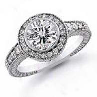 1 1/3 Ct. Round Diamond Engagement Ring, 14k Gold