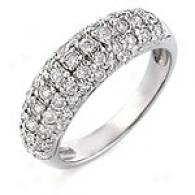 1 Cttw. Round-cut Diamond Ring, 14k White Gold