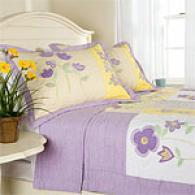 100% Cotton Patch Of Flower Quilt Set