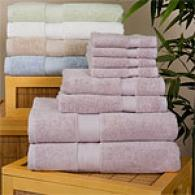 100% Organized 6pc Towel Set With 2 Bonus Washcloths