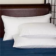 1000tc Satkn Weave White Goose Down Pillow