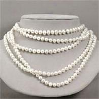 100in Layered 6mm-7mm White Pearl Necklace