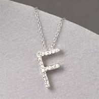 10k 0.17 Cttw. Diamond Initial F Pendant