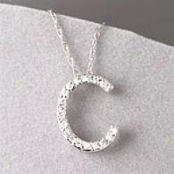 10k 0.25 Cttw. Diamond Initial C Pendant