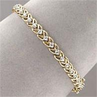 10k Gold 1.0 Cttw. Diamond Open Link Brracelet