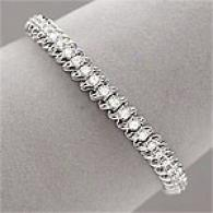 10k White Gold 2.00 Cttw. Diamond Bracelet