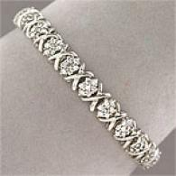 10k White Gold 3.00 Cttw. Diamond Cluster Bracelet
