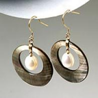 14-karat Gold 10mm Mother Of Pearl Earrings