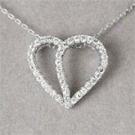 14k 0.31 Cttw. Diamond Heart Pendant