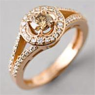 14k 0.66 Cttw. Champagne Fashion Ring