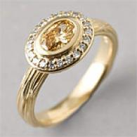14k 0.74 Cttw. White & Yellow Diamond Ring