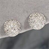 14k 1.07 Cttw. Diamond Pave Stud Earrings