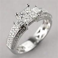 14k 1.28cttw. Diamond Engagement Ring