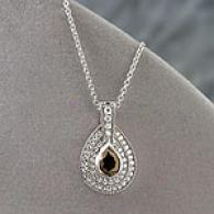 14k 1.29 Cttw. Gia Certified Brown Diamond Pendant