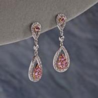 14k 1.30 Cttw. Pink Sapphire & Diamond Earrings