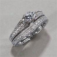 14k 1.40 Cttw. Diamond Engagement & Bridal Ring