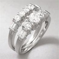 14k 1.50 Cttw. 3-stone Diamond Bridal Ring Set