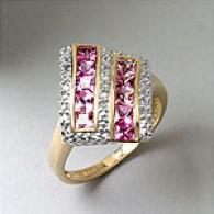 14k 1.50 Cttw. Pink Sapphire & Diamond Ring