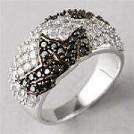 14k 1.51 Cttw. Dark & White Diamond Fashion Ring