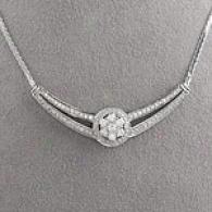 14k 1.52cttw. Diamond Cluster Necklace