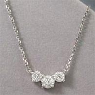 14k 1.70 Cttw. Round 3-stone Diamond Pendant