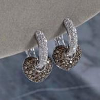 14k 1.79cttw Diamond Pave Heart Drop Earrings