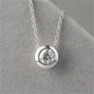14k 2.03 Cttw. Certified Diamond Bezel Pendant