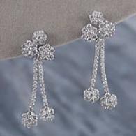 14k 2.48 Cttw. Multi lCuster Diamond Drop Earrings