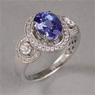14k 2.50 Cttw Tanzanite & Diamond Riing