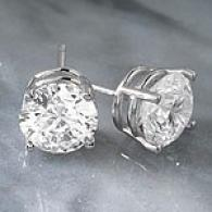 14k 3.07 Cttw. F- G Certified Diamond Stud Earring