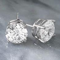 14k 3.09cttw F-g Certified Diamond Stud Earrings