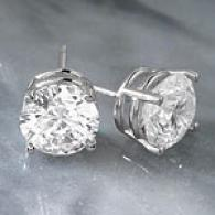 14k 3.41 Cttw. G-h Certified Diamond Stud Earrings