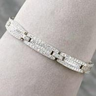 14k 5.00 Cttw. Invieibly Set Diamond Bracelet