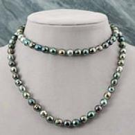 14k 8-9mm Tahitian Pearl Baroque Layer Necklace