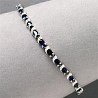 14k 8.75 Cttw Sapphire & Diamond Bracelet