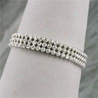 14k 9.00 Cttw. Triple-row Diamonf Bracelet