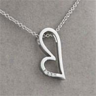 14k Diamond Accent Abstract Heart Pendant