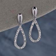 14k Brilliant Stress  Teardrop Earrings
