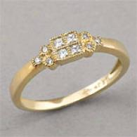 14k Gold 0.16 Cttw. Diamond Fashion Ring