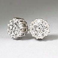 14k Gold 0.66 Cttw. Diamond Cluster Earrnigs