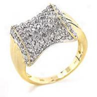 14k Gold 1.0 Cttw. Pave Diamond Pinky Ring
