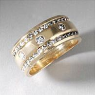 14k Gold 1.00 Ctttw. Ladies Diamond Wedding Band