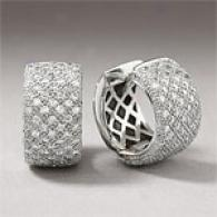 14k Gold 1.75 Cttw. Diamond Pave Huggie Earring