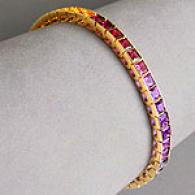 14k Gold 19.45 Cttw. Multj-gemstone Bracelet