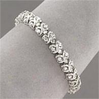 14k Gold 5.00 Cttw. Multi Row Diamond Bracelet