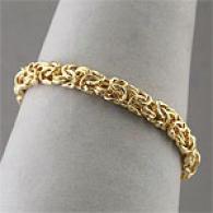 14k Gold Vermeil Byzantine Bracelet