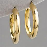 14k Gold Vermeil Round Tubing Hoop Earring