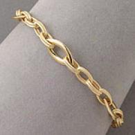 14k Marquise Link Bracelet