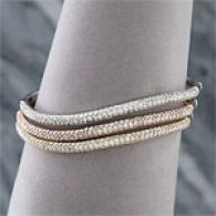 14k Triple Stack 6.82 Cttw. Diamond Bracelet