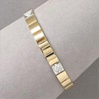 14k Two Tone Gold 0.25 Cttw. Diamond Bracelte